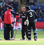 Jun 6th, The SSE SWALEC, Cardiff, Wales; ICC Champions Trophy; England versus New Zealand; Kane Williamson of New Zealand gets hit on the helmet by the ball