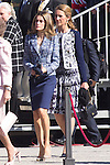 01.10.2012. The Spanish Royal Family, King Juan Carlos, Queen Sofia, Prince Felipe, Princess Letizia and Princess Elena attend the imposition of collective Distinguished Cross San Fernando Al Banner Armored Cavalry Regiment ´Alcántara´ No. 10 in the Royal Palace in Madrid, Spain. In the image Princess Letizia and Princess Elena (Alterphotos/Marta Gonzalez)