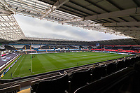 A general view of Liberty Stadium prior to kick off of the Champions Cup Round 1 match between Ospreys and Clermont at The Liberty Stadium, Swansea, Wales, UK. Sunday 15 October 2017