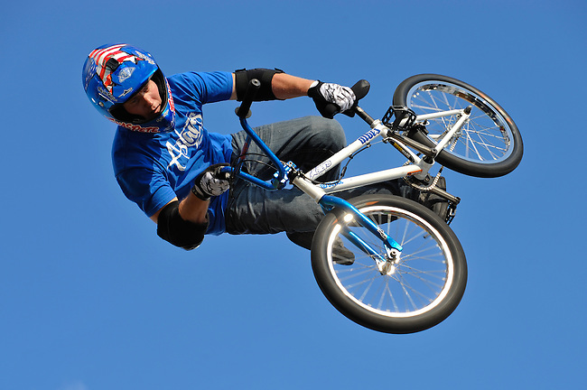 16 August, 2012:  Chad Kagy competes during the  BMX Vert Final: Round 1 at the Pantech Beach Championships in Ocean City, MD