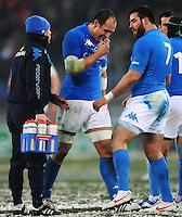 "Sergio Parisse, Robert Barbieri Italia.Roma 11/02/2012 Stadio ""Olimpico"".Rugby 6 Nations Tournament - Torneo delle 6 Nazioni 2012.Italia Vs Inghilterra - Italy Vs England .Foto Insidefoto Andrea Staccioli"