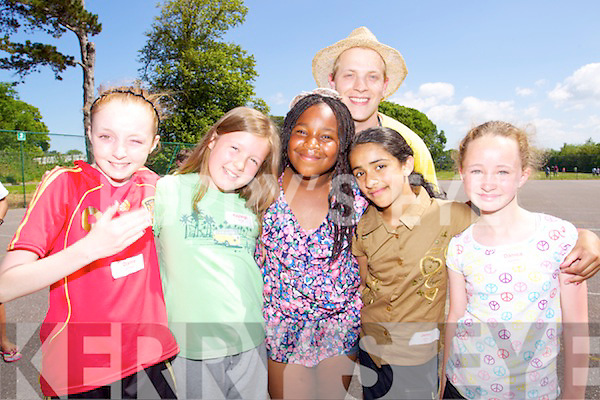 Pictured at Mounthawk Summer Camp on Thursday were l-r: Deana Courtney, Kayleigh Bruse, Precious Benjamin, Ephraim Bruse, Jemi John and Danica Kelliher