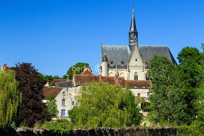Indre-et-Loire (37), Montr&eacute;sor, class&eacute; Les Plus Beaux Villages de France, le village et l'&eacute;glise // Indre et Loire, Montresor, labelled Les Plus Beaux Villages de France (The Most beautiful<br /> Villages of France), the village and the church