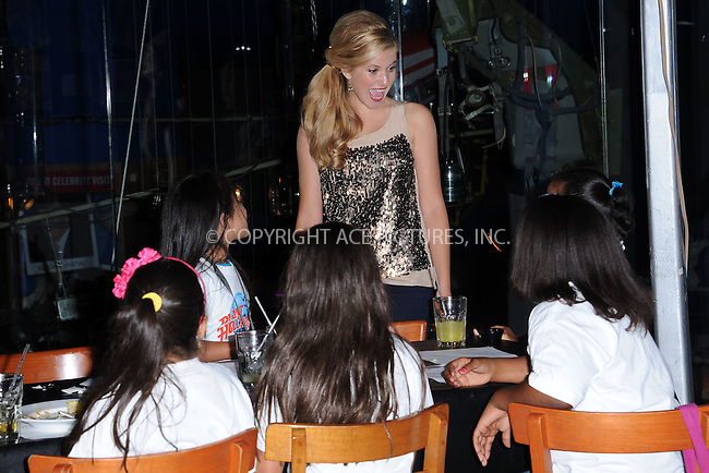 "WWW.ACEPIXS.COM . . . . . .August 12, 2011...New York City...Caroline Sunshine  at Planet Hollywood Times Square  to promote her starring role in the Disney Channel comedy series ""Shake It Up"" with a special meet & greet with 10 lucky children from WHEDco on August 12, 2011 in New York City.....Please byline: KRISTIN CALLAHAN - ACEPIXS.COM.. . . . . . ..Ace Pictures, Inc: ..tel: (212) 243 8787 or (646) 769 0430..e-mail: info@acepixs.com..web: http://www.acepixs.com ."