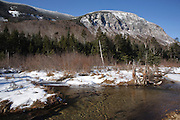 Franconia Notch State Park - View of Cannon Cliff from along the Pemi Trail in the White Mountains, of New Hampshire.