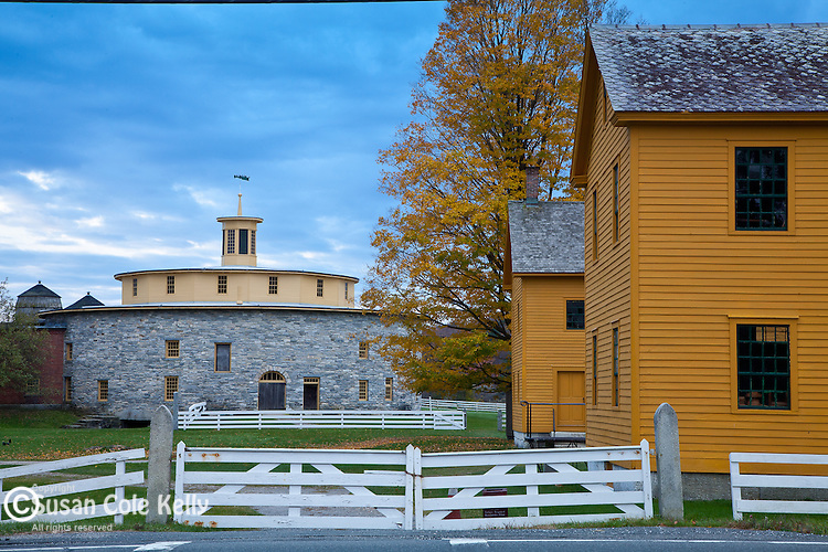 The round barn at the Hancock Shaker Village in Hancock, MA, USA