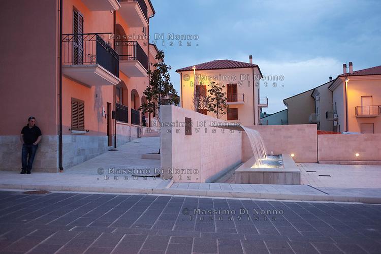 San Giuliano di Puglia: una fontana monumento che ricorda le vittime del crollo della scuola.