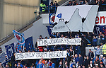 Rangers fans celebrate after clinching division 3 and starting the climb back to the summit of Scottish football