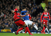 2nd December 2017, Goodison Park, Liverpool, England; EPL Premier League football, Everton versus Huddersfield Town; Mathias Zanka Jorgensen of Huddersfield Town clears as Aaron Lennon of Everton challenges