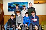 Enjoying the Churchill GAA Awards at Ballyroe Heights Hotel on Sunday were Front Brian Hamilton, Damien Doherty, Micheal Dolan, Edward Stack Back l-r Kievie Finn, Cian Carney and Daniel Guiney