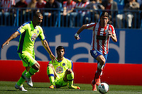 01.04.2012 MADRID, SPAIN -  La Liga match played between At. Madrid vs Getafe (3-0) at Vicente Calderon stadium. the picture show Filipe Luis Karsmirski (Brazilian defender of At. Madrid)