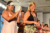 SAO PAULO, SP, 12 DE FEVEREIRO 2012 - FASHION WEEKEND PLUS SIZE - Modelo durante desfile da marca Ness Lingerie no Fashion Weekend Plus Size Inverno 2012 na tarde desse domingo (12) no espaco Frei Caneca na regiao central da capital paulista. (FOTO: CAIO BUNI / NEWS FREE).