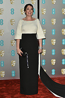 Olivia Colman<br /> The EE British Academy Film Awards 2019 held at The Royal Albert Hall, London, England, UK on February 10, 2019.<br /> CAP/PL<br /> ©Phil Loftus/Capital Pictures
