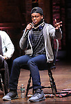 J. Quinton Johnson during a Q & A before the Gilder Lehman Institute of American History Education Matinee of 'Hamilton' at the Richard Rodgers  Theatre on December 15, 2016 in New York City.