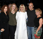 Jennifer Foote ('Follies') with Bernadette Peters, Jan Maxwell, Danny Burstein & Elaine Paige.attending the Opening Night Gypsy Robe Ceremony for 'Follies' Recepient Jennifer Foote at the Marquis Theatre in New York City.