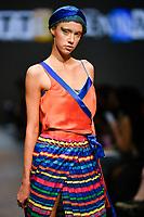 7 September 2017, Melbourne - Model parades design by student Bridgette Kenna during the Melbourne Fashion Week in Melbourne, Australia. (Photo Sydney Low / asteriskimages.com)