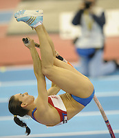 Photo: Ady Kerry/Richard Lane Photography..Aviva Grand Prix. 21/02/2009. .Yelenya Isinbayeva pole vault