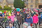 The crowd line up at the start of the Let's Get Kerry Walking/Operation Transformation walk in Muckross House on Saturday ....