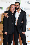 Spanish actor Ruben Cortada and Jose Coronado poses for the photographers on the Orange Carpet  during the closing celebration of 6th 'FesTVal' Television Festival 2014  in Vitoria, northern Spain. September 06, 2014. (ALTERPHOTOS/Sirocco)