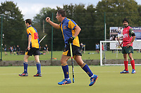 Upminster score their first goal during Upminster HC 2nd XI vs Redbridge & Ilford HC, East Region League Field Hockey at the Coopers Company and Coborn School on 5th October 2019
