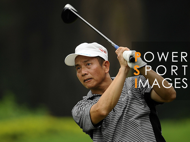 TAIPEI, TAIWAN - NOVEMBER 18:  Hus Ten Lai of Taiwan tees off on the 17th hole during day one of the Fubon Senior Open at Miramar Golf & Country Club on November 18, 2011 in Taipei, Taiwan.  Photo by Victor Fraile / The Power of Sport Images