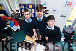 St. Joseph's Secondary School, Ballybunion students, Fionnan Toomey Jamie Hannon and Philip Byrne who won the Senior award for their project Circulation FS, at IT Tralee Student Enterprise awards on Friday last.