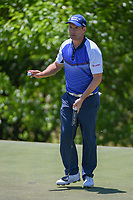 Padraig Harrington (IRL) sinks his par putt on 9 during round 4 of the AT&T Byron Nelson, Trinity Forest Golf Club, Dallas, Texas, USA. 5/12/2019.<br /> Picture: Golffile   Ken Murray<br /> <br /> <br /> All photo usage must carry mandatory copyright credit (© Golffile   Ken Murray)