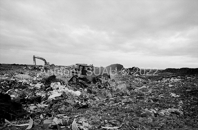 New Orleans, Louisiana.USA.February 23, 2006..The main Katrina dump site in East New Orleans. A mountain of garbage known as Katrina mountain........