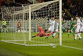 2nd December 2017, Stadio Olimpico Grande Torino, Turin, Italy; Serie A football, Torino versus Atalanta; Etrit Berisha saves a shot from Adem Ljajic on his line