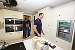 Redrow Homes<br /> Cardiff Blues players Scott Andrews, Sam Warburton &amp; Leigh Halfpenny visit to Mary Twill development in Langland Bay.<br /> <br /> 19.08.13<br /> <br /> &copy;Steve Pope-Fotowales