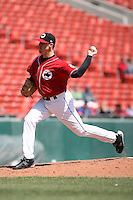 May 5th 2008:  Pitcher Rich Rundles of the Buffalo Bisons, Class-AAA affiliate of the Cleveland Indians, during a game at Dunn Tire Park in Buffalo, NY.  Photo by Mike Janes/Four Seam Images