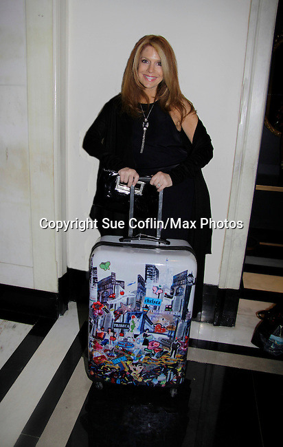 Kelly Clinton with Jane Elissa Luggage attends a night of entertainment by her husband Clint Holmes at the Cafe Carlyle, New York City. (Photo by Sue Coflin/Max Photos)