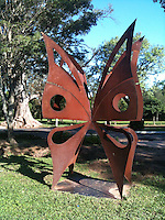 Modern art sculpture in the Botanical Gardens, Asuncion, Paraguay by the Natural History Museum