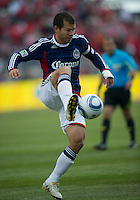 02 April 2011: Chivas USA forward Alejandro Moreno #15 in action during an MLS game between Chivas USA and the Toronto FC at BMO Field in Toronto, Ontario Canada...