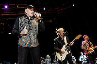 The Beach Boys in concert during the beginning of his European tour 2012. Mike Love (l) and Al Jardine. Festival de Musicos en la Naturaleza - Festival musicians in nature. Hoyos del Espino (Natural Parc of Gredos), Avila, Spain .July 21,2012. (ALTERPHOTOS/Acero) (ALTERPHOTOS/Acero/*NORTEPHOTO*)