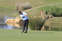 Ross Mcgowan (ENG) in action on the 14th hole during Thursday's Round 1 of the 2016 Portugal Masters held at the Oceanico Victoria Golf Course, Vilamoura, Algarve, Portugal. 19th October 2016.<br /> Picture: Eoin Clarke | Golffile<br /> <br /> <br /> All photos usage must carry mandatory copyright credit (&copy; Golffile | Eoin Clarke)