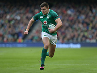 Saturday 10th February 2018 | Ireland vs Italy<br /> <br /> Jacob Stockdale during the Six Nations Rugby Championship match between Ireland and Italy at the Aviva Stadium, Lansdowne Road,  Dublin Ireland. Photo by John Dickson / DICKSONDIGITAL