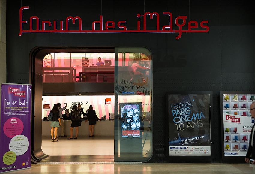 Forum des Images, Forum des Halles, 2 rue du Cinéma, Paris 1e, the location for the second day of Festival Paris Cinema 2012. Friday 29th June 2012