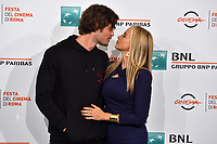 Mira Sorvino and husband Christopher Backus<br /> <br /> Drowning Photocall <br /> Roma 20-10-2019 Auditorium Parco della Musica <br /> Rome Film festival <br /> Photo Massimo Insabato / Insidefoto