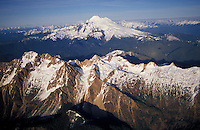 Aerial of Mt. Baker (bg), Northern Cascade Range, Washingto