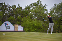 Austin Cook (USA) watches his tee shot on 15 during Round 2 of the Valero Texas Open, AT&amp;T Oaks Course, TPC San Antonio, San Antonio, Texas, USA. 4/20/2018.<br /> Picture: Golffile | Ken Murray<br /> <br /> <br /> All photo usage must carry mandatory copyright credit (&copy; Golffile | Ken Murray)
