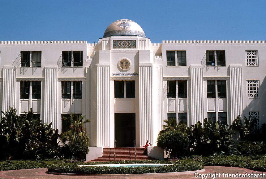 San Diego: City/County Administration Building. North Wing. NRHP 1988. 1600 Pacific Highway. Art Deco. Photo '80.