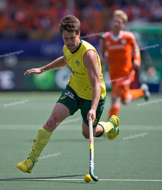 Hockey World Cup 2014<br /> The Hague, Netherlands <br /> Day 14 Men Final Australia v Netherlands<br /> Matt Gohdes<br /> <br /> Photo: Grant Treeby<br /> www.treebyimages.com.au