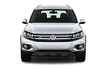 Car photography straight front view of a 2016 Volkswagen Tiguan 2.0T-R-Line 5 Door SUV Front View