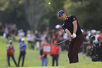 Justin Rose (ENG) on the 18th green during the 2nd round of the WGC HSBC Champions, Sheshan Golf Club, Shanghai, China. 01/11/2019.<br /> Picture Fran Caffrey / Golffile.ie<br /> <br /> All photo usage must carry mandatory copyright credit (© Golffile   Fran Caffrey)