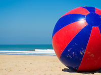 a toy beach ball with a dia of 10 feet/3 meters