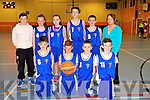 Farranfore front l-r Conor Henderson, Dylan Callaghan, Jason Brennan, Nathan O'Callaghan back l-r  Liam Moloney, Chloe O'Connor, Marie Flynn, Daragh Brosnan, Cian Ring, Clare Callaghan at the KDYS/Garda Basketball Blitz in the Castleisland Community Centre on Friday