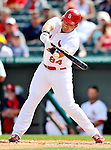 3 March 2011: St. Louis Cardinals' infielder Zack Cox in action during a Spring Training game against the Washington Nationals at Roger Dean Stadium in Jupiter, Florida. The Cardinals defeated the Nationals 7-5 in Grapefruit League action. Mandatory Credit: Ed Wolfstein Photo