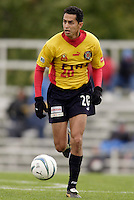 Orlando Perez of the Fire. The MetroStars defeated the Chicago Fire 2-0 during the inaugural Hall of Fame game on Monday October 11, 2004 at At-A-Glance Field at the National Soccer Hall of Fame and Museum, Oneonta, NY..