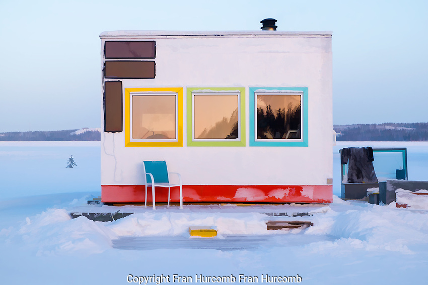 winter in Yellowknife's Old Town